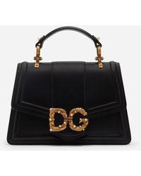 Dolce & Gabbana Dg Amore Tasche Aus Kalbsleder - Schwarz