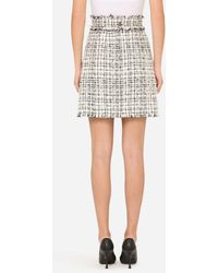 Dolce & Gabbana Tweed Midi Skirt - Multicolore