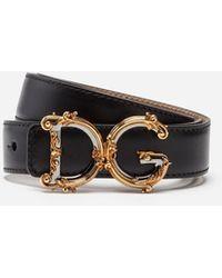 Dolce & Gabbana - Logo Leather Belt - Lyst