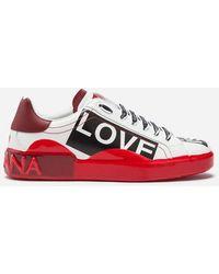 Dolce   Gabbana - Sneakers Portofino Melt In Vitello Nappato Stampato - Lyst 3885acaeb14