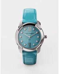 Dolce & Gabbana Uhr Dg7 Aus Stahl Mit Türkis Und Diamanten - Blau