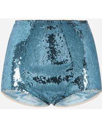 Dolce & Gabbana Sequined Culottes - Bleu