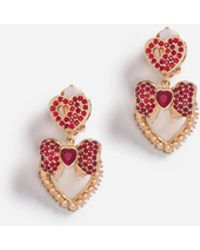 Dolce & Gabbana - Drop Earrings With Crystals - Lyst