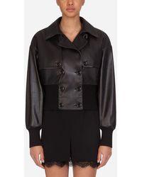 Dolce & Gabbana Leather Jacket - Negro