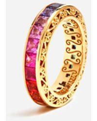 Dolce & Gabbana Ehering Mit Mehrfarbigen Saphiren - Mettallic