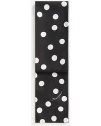 Dolce & Gabbana Silk Scarf With Large Polka-dot Print - Black