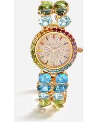 Dolce & Gabbana - Watch With Multi-colored Gems - Lyst