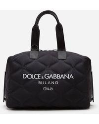 Dolce & Gabbana Nylon Palermo Tecnico Bag With Printed Logo - Noir