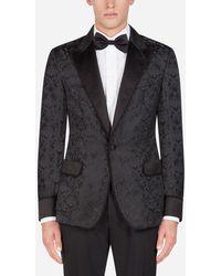 Dolce & Gabbana Giacca Da Camera Tuxedo Jacquard - Nero