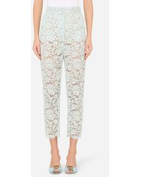 Dolce & Gabbana Lace Trousers - Multicolour