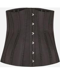 Dolce & Gabbana Cotton Bustier Belt - Black