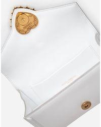 Dolce & Gabbana Devotion Fanny Pack In Plain Calfskin - White