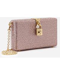Dolce & Gabbana Clutch Dolce Box Mit Thermostrass - Pink