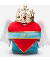 Dolce & Gabbana - Heart Wings Velvet Backpack - Lyst