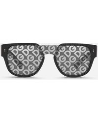 Dolce & Gabbana Domenico Mask Sunglasses - Black