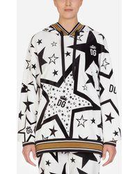 Dolce & Gabbana Kapuzenpullover Aus Jersey Mit Millennials Star-Print - Mehrfarbig