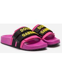 Dolce & Gabbana Slides Aus Gummi Und Neopren - Lila