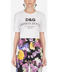 Dolce & Gabbana T-Shirt En Coton Imprimé - Blanc