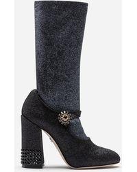 Dolce & Gabbana - Stretch Lycra Mary Janes With Sock - Lyst