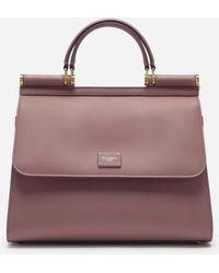 Dolce & Gabbana Sicily 58 Leather Satchel With Crossbody Strap - Multicolour