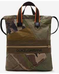 Dolce & Gabbana Military Patch Street Backpack - Green