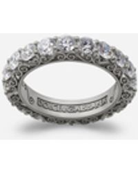 Dolce & Gabbana Sicily Ring In White Gold With Diamonds - Multicolor