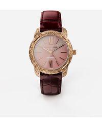 Dolce & Gabbana Uhr Dg7 Gattopardo Rotgold Mit Rosa Perlmutt - Mehrfarbig