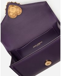 Dolce & Gabbana Devotion Fanny Pack In Plain Calfskin - Morado