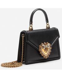 Dolce & Gabbana Sac Devotion Petit Format En Cuir De Veau Lisse - Noir