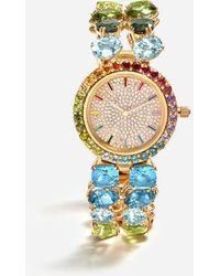 Dolce & Gabbana Watch With Multi-colored Gems - Metallic