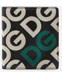 Dolce & Gabbana Cartera Con El Logo Dg Estampado - Negro