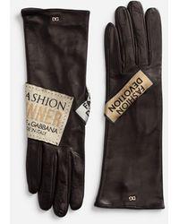 Dolce & Gabbana Nappa Leather Gloves - Black