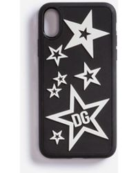Dolce & Gabbana Cover Iphone X In Gomma Mix Stelle - Nero