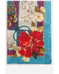 Dolce & Gabbana Scarf In Modal And Cashmere With Silk Road Print: 140 X 140Cm- 55 X 55 Inches - Mehrfarbig