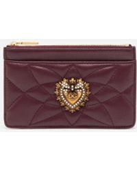 Dolce & Gabbana Devotion Card Holder With Zip - Viola