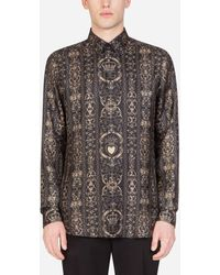 Dolce & Gabbana - Jacquard Martini Shirt - Lyst