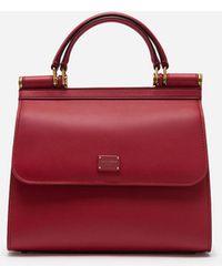 Dolce & Gabbana Small Calfskin Sicily 58 Bag - Red