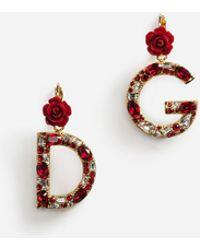 Dolce & Gabbana - Branded Drop Earrings - Lyst