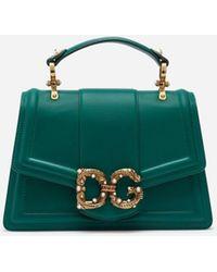 Dolce & Gabbana Dg Amore Bag In Calfskin - Multicolore