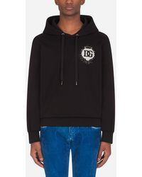 Dolce & Gabbana Jersey Hoodie With Patch - Noir