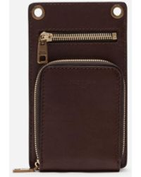 Dolce & Gabbana Cowhide Phone Bag - Marrón