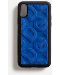 Dolce & Gabbana Cover Iphone X Aus Gummi Mit Dg-Logo - Blau