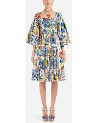Dolce & Gabbana - Majolica-print Cotton Dress - Lyst