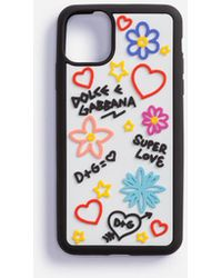 Dolce & Gabbana Cover Iphone 11 Pro Max In Gomma Con Graffiti - Multicolore