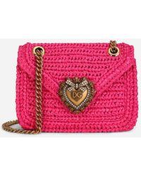 Dolce & Gabbana Medium Crochet Raffia Devotion Bag - Multicolor