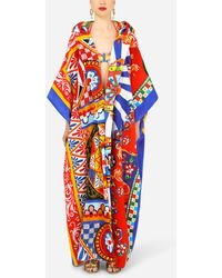Dolce & Gabbana Patchwork Robe With Mixed Carretto Prints - Multicolor