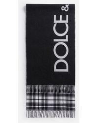Dolce & Gabbana Jacquard Scarf With Dolce&Gabbana Logo - Schwarz
