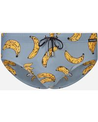 Dolce & Gabbana - Swimming Briefs With Banana Print - Lyst