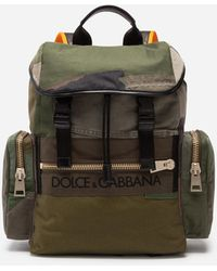 Dolce & Gabbana Military Backpack In Canvas - Green