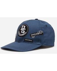 Dolce & Gabbana - Baseball Cap In Stretch Cotton With Patches - Lyst